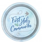 B1 Blue First Holy Communion paper plates