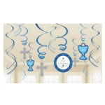 BB4 Blue Celebration First Holy Communion hanging decoration