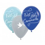 BB5 Blue First Holy Communion Latex Balloons