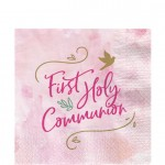 P2 Pink First Holy Communion paper napkins