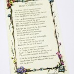 PC4 Large Communion Prayer Card