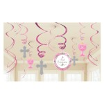 PP4 Pink Celebration First Holy Communion hanging decoration