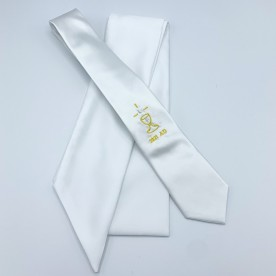 S1 Communion 2021 Dated Tie & Sash Set - White