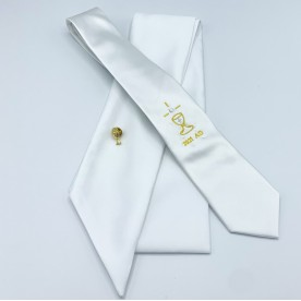 S3 Communion 2021 Dated Tie, Sash & Pin Set - White