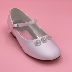 SH7 Communion Shoes - Flower design