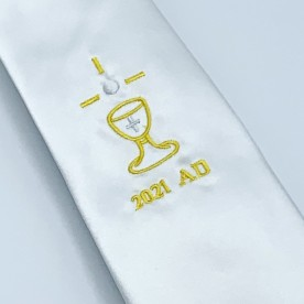 2021 Dated Communion White Tie - WT21