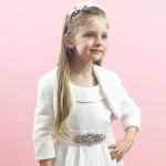 J10 Communion Bolero Jacket - Faux Fur