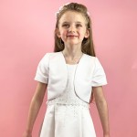 J7 Communion Bolero Jacket - Bead Edge